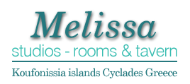 Melissa Studios. Rooms & Restaurant, Koufonissia Cyclades Greece